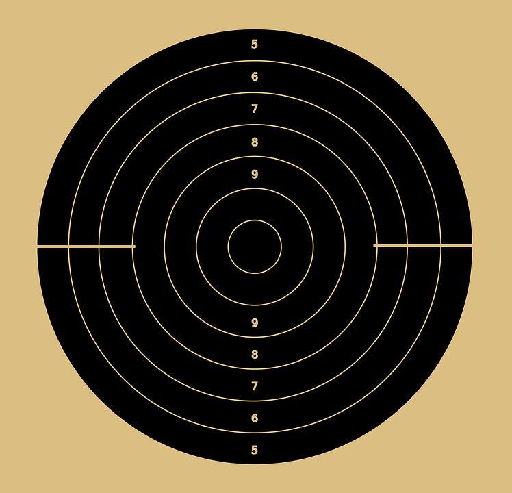 картинка мишень для стрельбы она