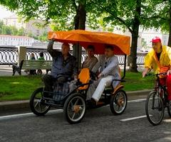 Карета. В Парке Горького почти всегда можно найти вот такие кареты, которые подвезут вас в нужное место, в пределах парка. Часто даже бесплатно