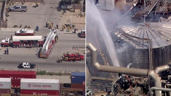 Калифорния содрогнулась отмощного взрыва нанефтяном заводе