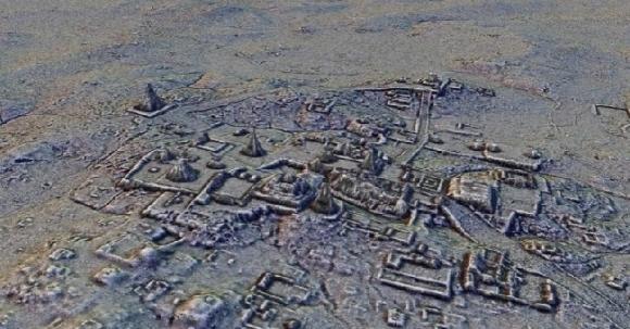 Вид города Тикаль