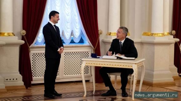 Владимир Зеленский и Йенс Столтенберг, фото: Администрация Президента Украины