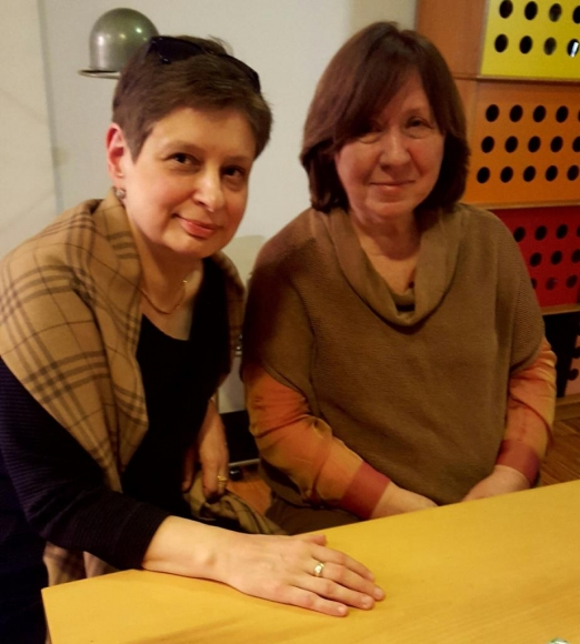Профессор Нина Хрущева и Нобелевский лауреат, писательница Светлана Алексиевич