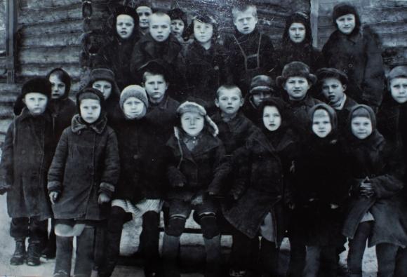 Школа. Класс Николая Егоровича. 1939 г.