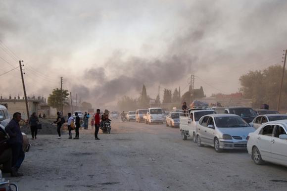 Турецкие войска обстреляли город на северо-востоке Сирии