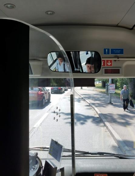 Водитель Таллинского автобуса, который вёз бесплатно до