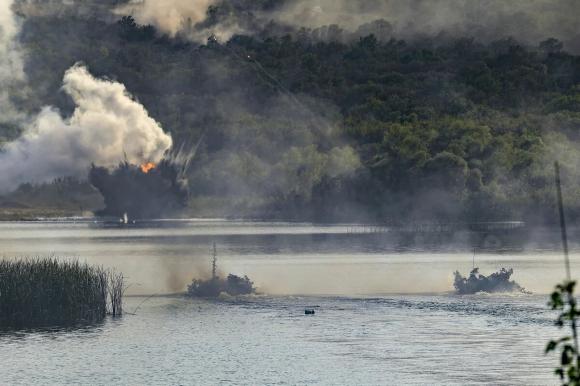 Была пресечена высадка десанта противника на черноморское побережье РФ на учениях «Кавказ»
