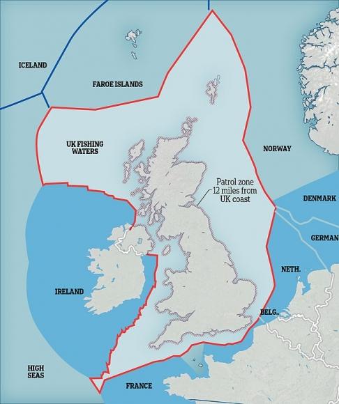 Британия направила боевые корабли для борьбы с французскими рыболовами