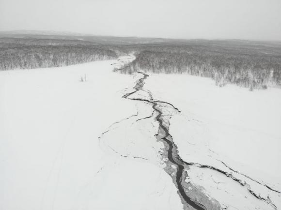 Грязекаменный поток в русле ручья Крутенький восточнее поселка Ключи.