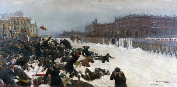 """Расстрел мирной петиции 1905 год """"Кровавое воскресенье"""""""