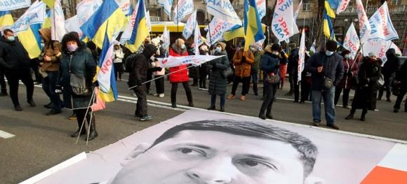 В Украине националисты устроили антироссийские выступления