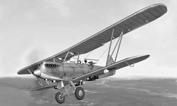 Самолёт Р-5, на котором летал Александр Мамкин в начале войны