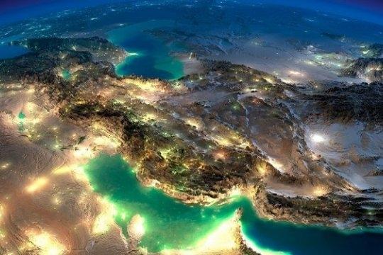 """Фото с борта """"МКС"""" на Персидский залив"""